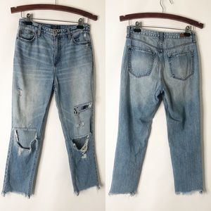 Abercrombie Annie Girlfriend Cropped Jeans